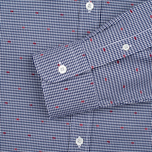 Мужская рубашка Maison Kitsune Jacquard Dots Dark Navy фото- 3