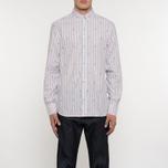 Мужская рубашка Maison Kitsune Jacquard Fox Classic Red/Navy Stripe фото- 5