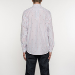Мужская рубашка Maison Kitsune Jacquard Fox Classic Red/Navy Stripe фото- 6