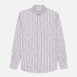 Мужская рубашка Maison Kitsune Jacquard Fox Classic Red/Navy Stripe фото- 0
