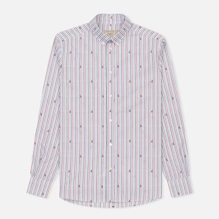 Мужская рубашка Maison Kitsune Jacquard Fox Classic Red/Navy Stripe