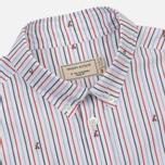 Мужская рубашка Maison Kitsune Jacquard Fox Classic Red/Navy Stripe фото- 1