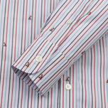 Мужская рубашка Maison Kitsune Jacquard Fox Classic Red/Navy Stripe фото- 2