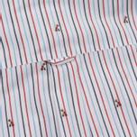 Мужская рубашка Maison Kitsune Jacquard Fox Classic Red/Navy Stripe фото- 3