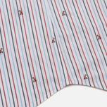 Мужская рубашка Maison Kitsune Jacquard Fox Classic Red/Navy Stripe фото- 4
