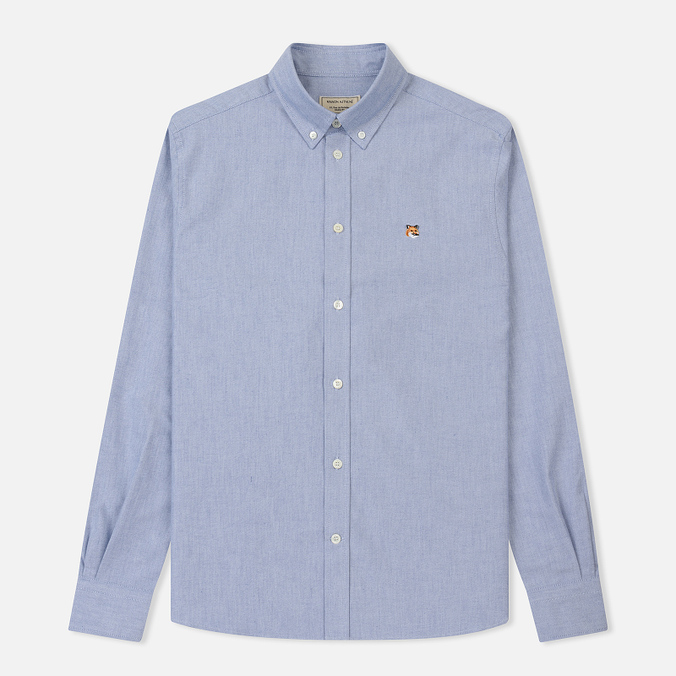 Мужская рубашка Maison Kitsune Oxford Fox Head Embroidery Classic Navy