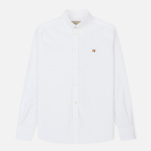 Мужская рубашка Maison Kitsune Oxford Fox Head Embroidery Classic White фото- 0