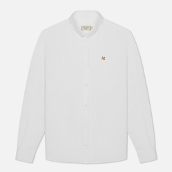 Мужская рубашка Maison Kitsune Oxford Fox Head Embroidery Classic White
