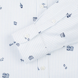 Maison Kitsune Oxford Printed Classic Men's Shirt Light Blue Stripes photo- 3