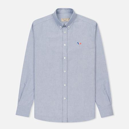 Мужская рубашка Maison Kitsune Oxford Tricolor Fox Patch Classic Navy