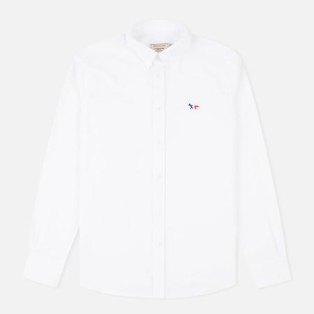 Мужская рубашка Maison Kitsune Oxford Tricolour Patch Classic White