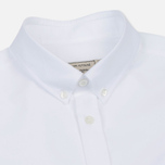 Мужская рубашка Maison Kitsune Oxford Tricolor Fox Patch Classic White фото- 1