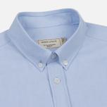 Мужская рубашка Maison Kitsune Oxford Tricolor Fox Patch Classic Light Blue фото- 1