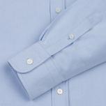 Мужская рубашка Maison Kitsune Oxford Tricolor Fox Patch Classic Light Blue фото- 2
