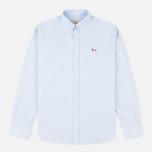 Мужская рубашка Maison Kitsune Oxford Tricolor Fox Patch Classic Light Blue фото- 0