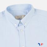 Мужская рубашка Maison Kitsune Oxford Tricolour Fox Patch Light Blue фото- 1