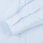 Мужская рубашка Maison Kitsune Oxford Tricolour Fox Patch Light Blue фото- 3