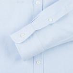 Мужская рубашка Maison Kitsune Oxford Tricolor Fox Patch Classic Light Blue фото- 3