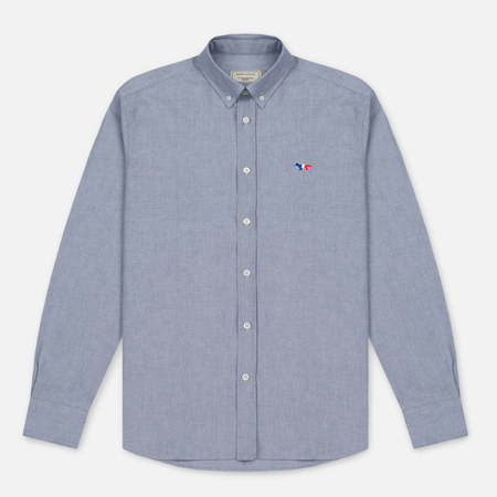 Мужская рубашка Maison Kitsune Oxford Tricolor Patch Classic Black