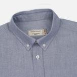 Мужская рубашка Maison Kitsune Oxford Tricolor Patch Classic Black фото- 1