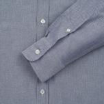 Мужская рубашка Maison Kitsune Oxford Tricolor Patch Classic Black фото- 2