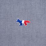Мужская рубашка Maison Kitsune Oxford Tricolor Patch Classic Black фото- 3