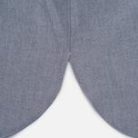 Мужская рубашка Maison Kitsune Oxford Tricolor Patch Classic Black фото- 4