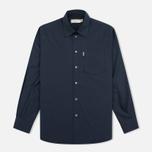 Мужская рубашка Maison Kitsune Poplin Jagg Dark Navy фото- 0