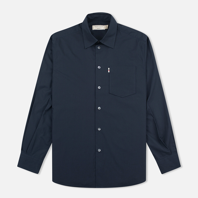 Мужская рубашка Maison Kitsune Poplin Jagg Dark Navy