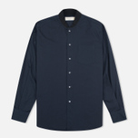 Мужская рубашка Maison Kitsune Poplin Rib James Dark Navy фото- 0