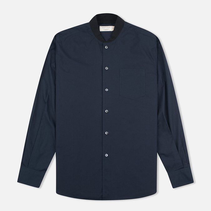 Мужская рубашка Maison Kitsune Poplin Rib James Dark Navy
