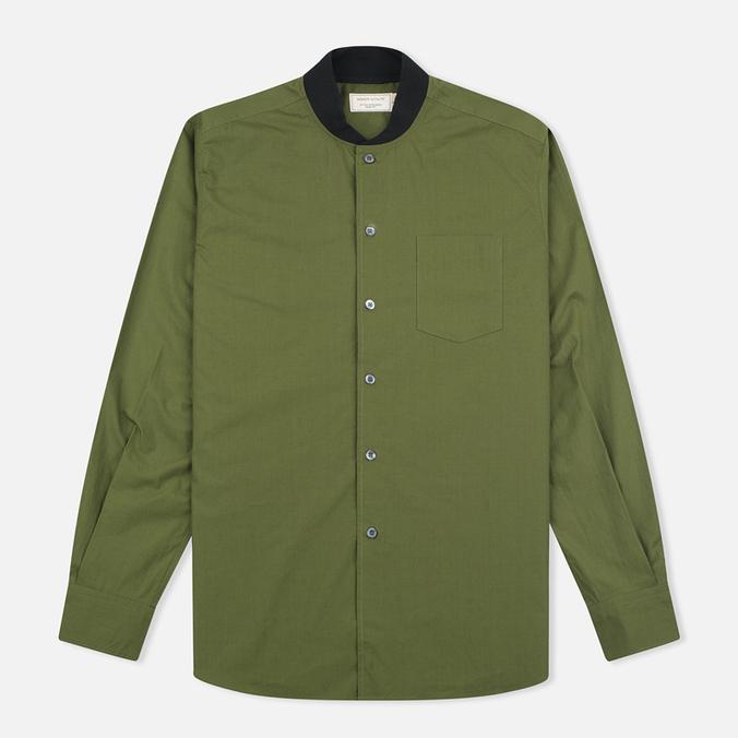 Мужская рубашка Maison Kitsune Poplin Rib James Khaki