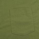 Мужская рубашка Maison Kitsune Poplin Rib James Khaki фото- 2