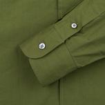 Мужская рубашка Maison Kitsune Poplin Rib James Khaki фото- 3