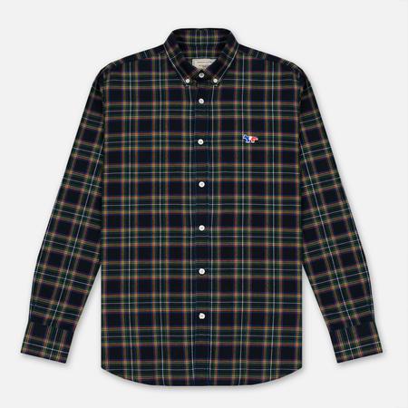 Maison Kitsune Мужская рубашка Tartan Check Classic Emerald