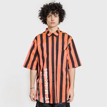Мужская рубашка Marcelo Burlon Warning Orange/Multicolor фото- 2