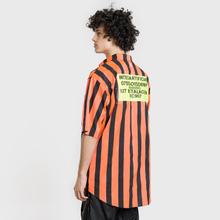 Мужская рубашка Marcelo Burlon Warning Orange/Multicolor фото- 4