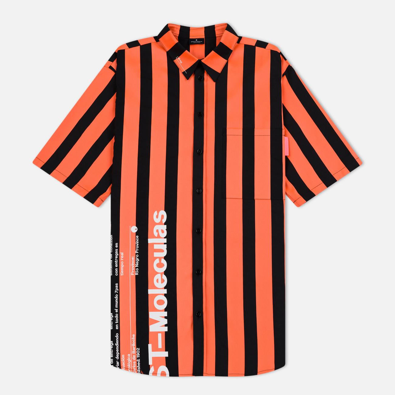 Мужская рубашка Marcelo Burlon Warning Orange/Multicolor