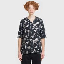 Мужская рубашка McQ Alexander McQueen Billy 03 Hawaii Print Darkest Black фото- 1