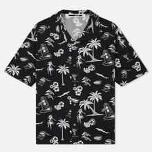Мужская рубашка McQ Alexander McQueen Billy 03 Hawaii Print Darkest Black фото- 0