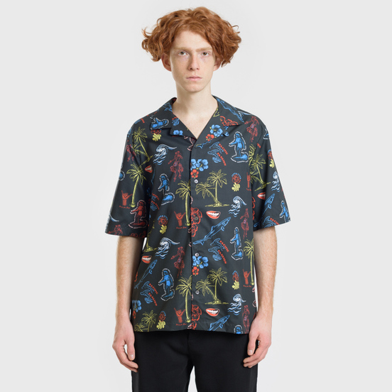 Мужская рубашка McQ Alexander McQueen Billy 03 Surfer Zombie Darkest Black