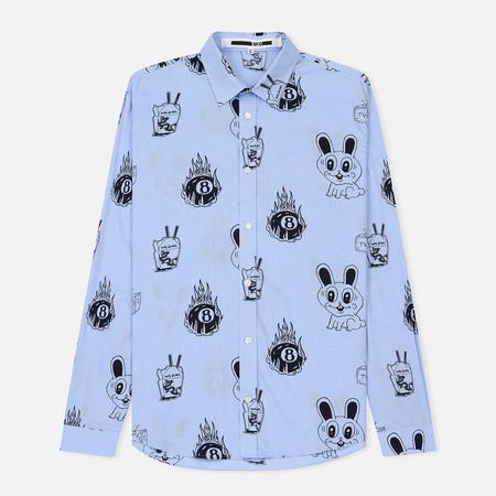 Мужская рубашка McQ Alexander McQueen Sheehan 20 Bunny Sticker Micro Dogtooth