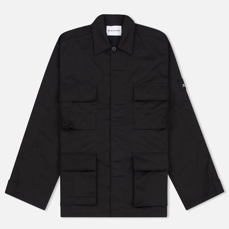 MKI Miyuki-Zoku Badge Fatigue Men's Windbreaker Black