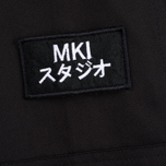 MKI Miyuki-Zoku Badge Fatigue Men's Windbreaker Black photo- 4