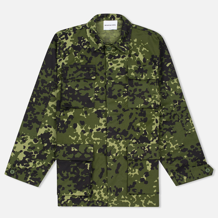 MKI Miyuki-Zoku Badge Fatigue Men's Windbreaker Mono Camo