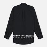 Мужская рубашка MKI Miyuki-Zoku Coded Oxford Black фото- 3