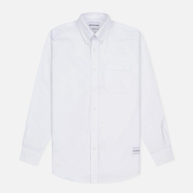 Мужская рубашка MKI Miyuki-Zoku Coded Oxford White