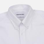 Мужская рубашка MKI Miyuki-Zoku Coded Oxford White фото- 1