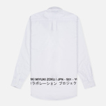 Мужская рубашка MKI Miyuki-Zoku Coded Oxford White фото- 4