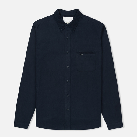 Мужская рубашка Nanamica Button Down Flannel Navy